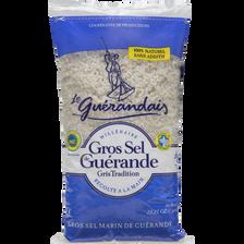 Gros sel de Guérande tradition LE GUERANDAIS, sachet de 800g
