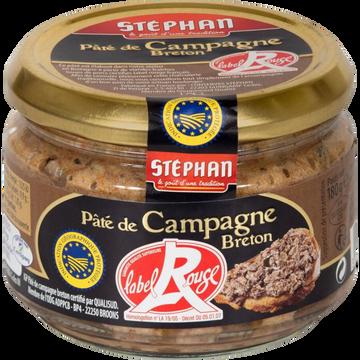 Stéphan Pâté De Campagne Label Rouge Stephan, 3x180g
