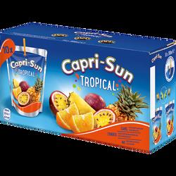 Boisson aux fruits goût tropical CAPRI SUN, 10 mini poches de 20cl