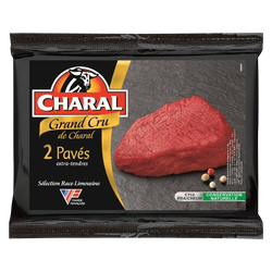 Viande bovine - Pavé de rumsteck Grand Cru, CHARAL, France, 2 pièces