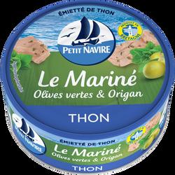 Thon mariné olives vertes & origan PETIT NAVIRE, 110G