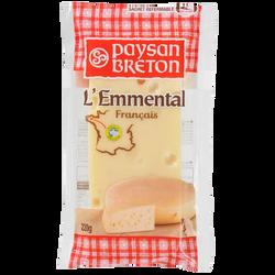 Emmental Français au lait pasteurisé, PAYSAN BRETON, 28%MG, 220g