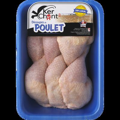 Cuisse de poulet dejointée, KERCHANT, France, 6 pièces