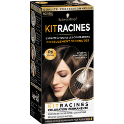 Coloration permanente kit racine châtain R6 SOYANCE