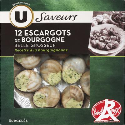 Escargots de Bourgogne Label Rouge Saveur U, 12 pièces