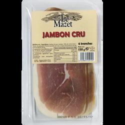 Jambon cru 6 tranches, soit 150g