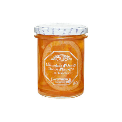 Marmelade d'orange douce d'Espagne en tranches ALBERT MENES, 280g