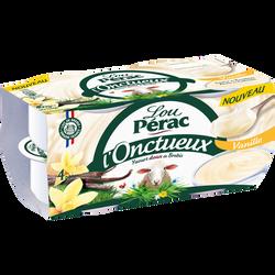 Yaourt onctueux au lait de brebis saveur vanille LOU PERAC, 4x115g