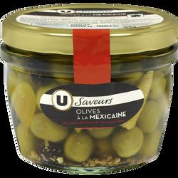 Olives à la mexicaine U SAVEURS, bocal de 250g
