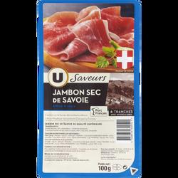 Jambon de Savoie Saveurs U, 6 tranches soit 100g