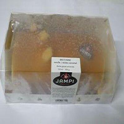 Bûche glacée artisanale Bretonne vanille:éclats de caramel JAMPI, 700ml