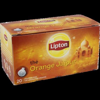 Thé Jaïpur à l'orange LIPTON, 20 sachets mousseline, 40g