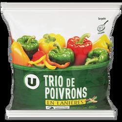 Trio de poivrons U, 600g