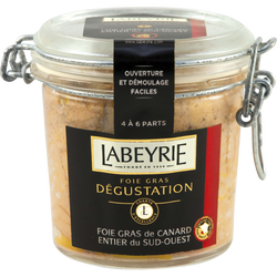 Foie gras de canard entier IGP Sud-Ouest bocal LABEYRIE, 190g