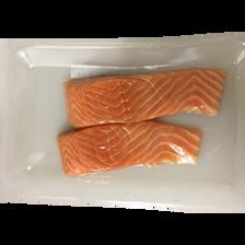 Pavé de saumon sans arête, salmo salar, pêché en Atlantique Nord Est,250g