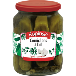 Cornichons a l'ail KOPINSKI, 330g