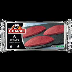 Steak de boeuf ***, à griller, CHARAL, France, 6 pièces, 600g