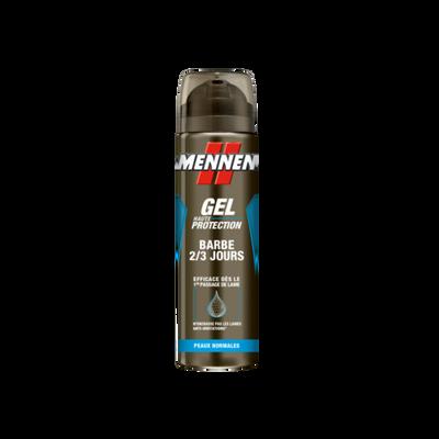 Gel de rasage barbe 2/3jrs Mennen atomiseur 2x200ml+ric 0,8e