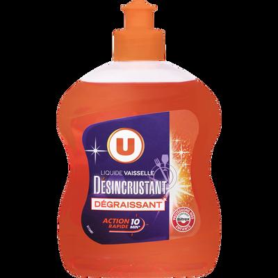 Liquide vaisselle désincrustant U, flacon de 500ml