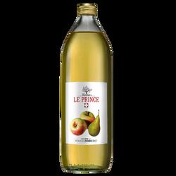 Pur Jus de pomme poire,  THOMAS LE PRINCE, bouteille en verre de 1l