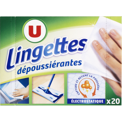 Lingettes dépoussiérantes U, x20