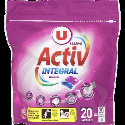 Lessive en dose activ intégral violet U, 524g, 20 lavages