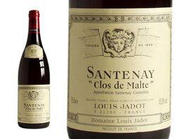 SANTENAY ROUGE CLOS DE MALTE 75CL MAISON LOUIS JADOT - AOC BOURGOGNE