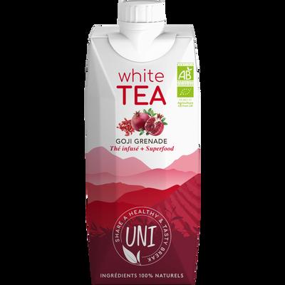 Infusion thé blanc passiflore goji grenade BIO UNI WHITE TEA,  briquede 33cl