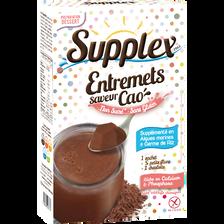 Préparation de flan au cacao sans gluten et non sucré SUPPLEX, 60g