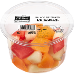 Salade de fruits de saison, FLORETTE, barquette 300g