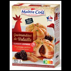 Gourmandise de volaille pruneaux, MAITRE COQ, France, étui, 380g