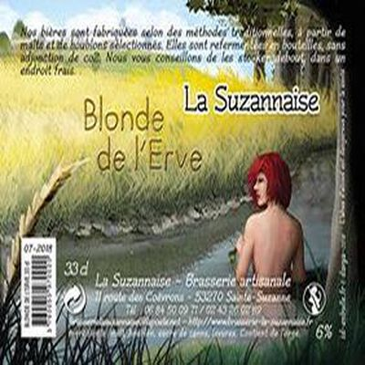 Bière Blonde de l'Erve 75cl - La Suzannaise