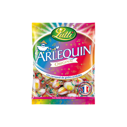 Bonbons acidulés Arlequins LUTTI, sachet de 250g
