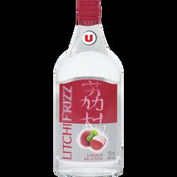 Liqueur Frizz saveur litchi U, 15°, bouteille de 70cl