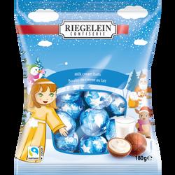 Boules de Noël fourrées crême de lait RIEGELEIN, 180g