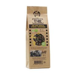Thé vert bio sencha citron gingembre 80g ateliers des cafés