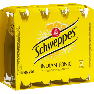 SCHWEPPES Indian Tonic, 8x25cl