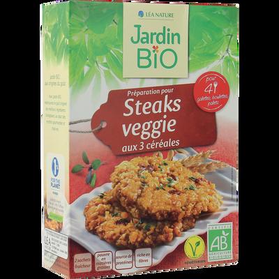 Préparation pour steaks végétariens bio JARDIN BIO 200g