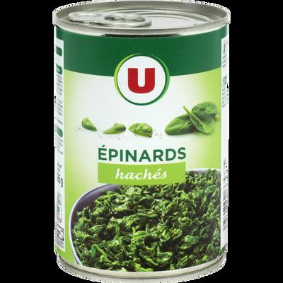 Epinards hachés U, boîte de 395g