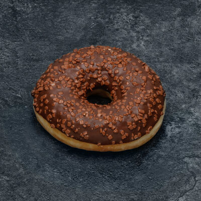 Donut décor chocolat décongelé, 1 pièce, 55g