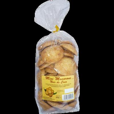Mini macarons noix de coco, BISCUITERIE MODERNE, sachet de 350g