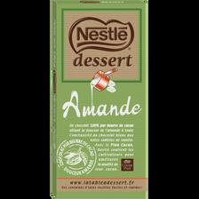 Chocolat amande NESTLE DESSERT, tablette de 180g