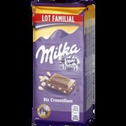 Milka Chocolat Au Lait Et Riz Soufflé Milka, 6 Tablettes De 100g