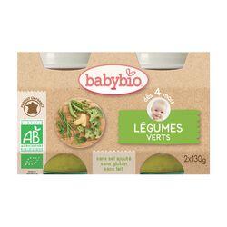 Babybio Légumes Verts dès 4mois 2x130gr BABYBIO