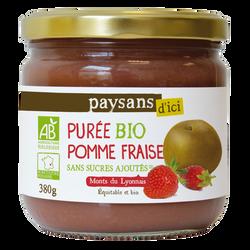 PURÉE DE FRUITS POMME-FRAISE MONTS DU LYONNAIS BIO 380G