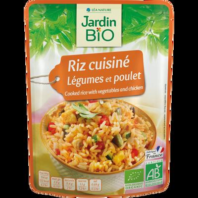 Riz cuisiné légumes poulet JARDIN BIO