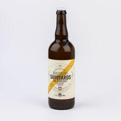 Bière blonde bio LES BRASSEURS SAVOYARDS, 5°, 75cl