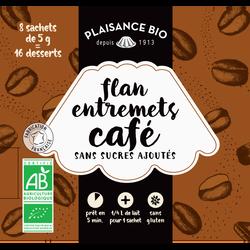 Préparation pour flan-entremets non sucré café PLAISANCE BIO, 40g