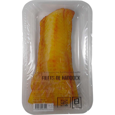 Filet haddock, Melanogrammus Aeglefin, fumé, pêché en Atlantique Nord-Est, barquette 250g