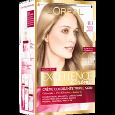 Coloration permanente EXCELLENCE, blond clair cendré n° 8-1